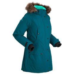 Długa kurtka outdoorowa funkcyjna z kapturem bonprix niebieskozielony morski