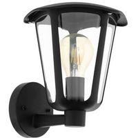 Lampy ścienne, Eglo 98119 - Kinkiet zewnętrzny MONREALE 1xE27/60W/230V IP44 czarny