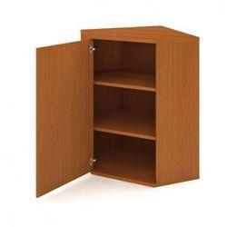 Szafa narożna zamykana z drzwiami SELECT, lewa, 800 x 400 x 1152 mm, czereśnia