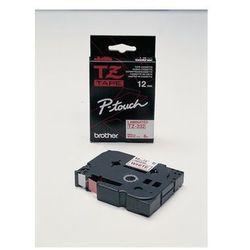 BROTHER Taśmy do drukarek TZ laminowane 12mm x 8m, czerwony/biały
