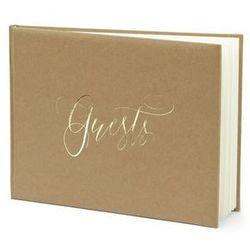 Księga gości weselnych Guests brązowa - 22 kartki
