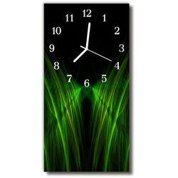 Zegar Szklany Pionowy Krajobrazy Linie abstrakcja zielony