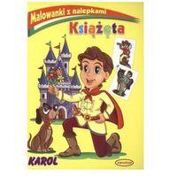 Książki dla dzieci, Książęta Malowanki z nalepkami Karol (opr. miękka)