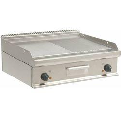 Płyta grillowa elektryczna 1/2 gładka 1/2 ryflowana nastawna | 790x530mm | 10800W