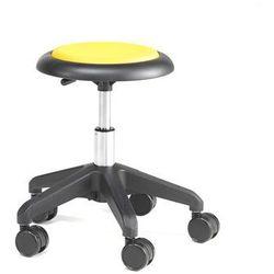 Krzesło na kółkach MICRO, żółty, 380-450 mm