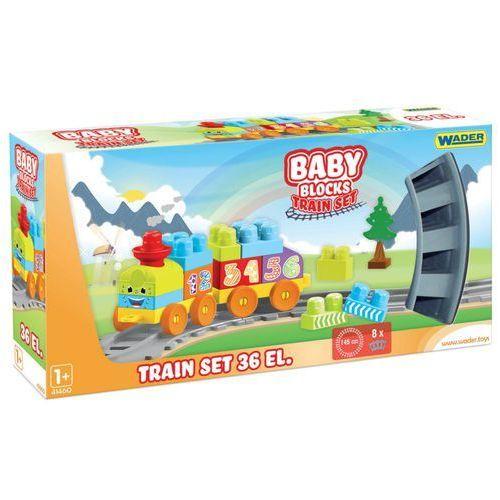 Kolejki i tory dla dzieci, Baby Blocks Railway 1.45m - Kolejka 36 elementów