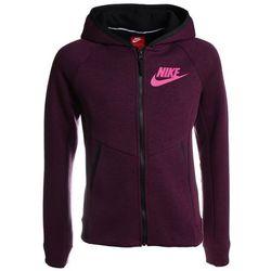 Nike Performance HOODIE Bluza rozpinana bordeaux/heather/black/lethal pink