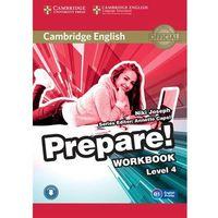 Książki do nauki języka, CAMBRIDGE ENGLISH PREPARE! 4 WORKBOOK WITH AUDIO*natychmiastowawysyłkaod3,99 (opr. miękka)