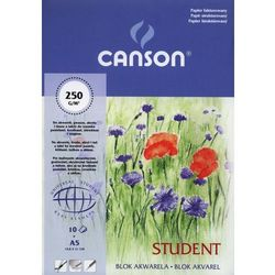 Blok akwarela A5 Canson papier fakturowany 10 kartek Student