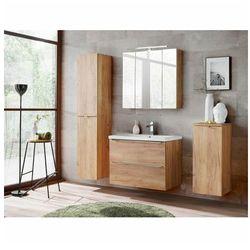 Zestaw podwieszanych szafek łazienkowych - Malta 2Q Dąb 80 cm