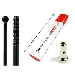 Szprychy CNSPOKE STD14 2.0-2.0-2.0 stal nierdzewna 222mm czarne + nyple 144szt.