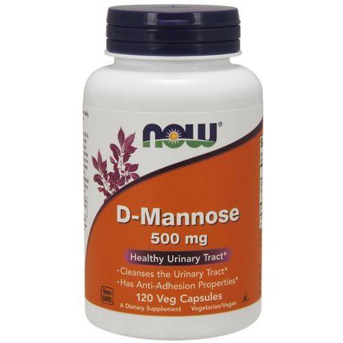 Witaminy i minerały, NOW FOODS D-Mannose (D-Mannoza) 500mg - 120 kapsułek wegańskich