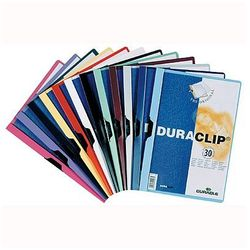 Skoroszyt z klipsem Durable Duraclip Original 30 kartek żółty 220004