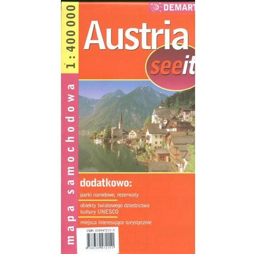 Mapy i atlasy turystyczne, Austria 1:400 000 mapa samochodowa (opr. miękka)