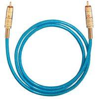 Kable audio, Kabel cyfrowy RCA, Oehlbach NF113, wtyk RCA / wtyk RCA, 75 Ohm, niebieski, 0,5 m