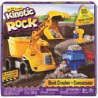 Piasek kinetyczny, Kinetic Sand zestaw budowlany Kinetic Rock 340 g, z maszyną - BEZPŁATNY ODBIÓR: WROCŁAW!