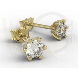 Kolczyki z żółtego złota z diamentami 0,54 ct wzór LPK-8054Z
