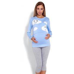 Piżama Damska Ciążowa Model 1679 Sky Blue - PeeKaBoo