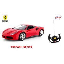 Duże Licenjonowane Zdalnie Sterowane Ferrari 488 GTB (1:14) + Bezprzewodowy Pilot.