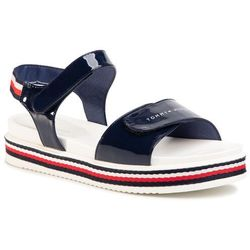 Sandały TOMMY HILFIGER - Platform Velcro Sandal Blue T3A2-30650-0774 D Blue 800