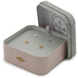 Kolczyki FOSSIL - Sterling JFS00454998 Silver/Gold