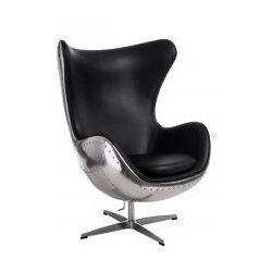 Fotel Jajo insp. Egg czarne-aluminium