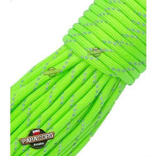 Bransoletki, Paracord 550, kolor: Fluor green reflective - odblaskowy - linka spadochronowa z siedmioma rdzeniami