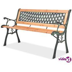 vidaXL Ławka ogrodowa, 122 cm, drewniana