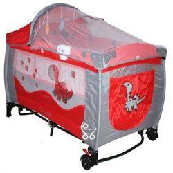Łóżeczko turystyczne 120x60 Coto Baby Samba Lux red