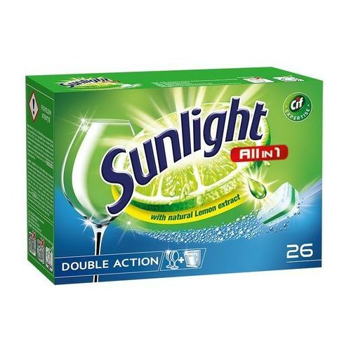 Kostki do zmywarek, Unilever SUNLIGHT Tabletki do zmywarki (667961) Darmowy odbiór w 20 miastach!