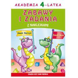 Akademia 4-latka, Zabawy i zadania z naklejkami. Książka uczy, bawi, rozwija. Wyd. 2 - JOANNA PARUSZEWSKA