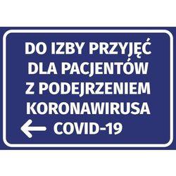Naklejka do izby przyjęć dla pacjentów z podejrzeniem koronawirusa covid-19