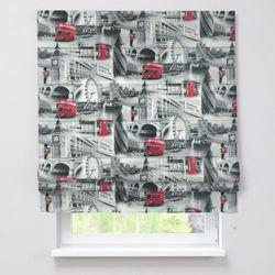 Dekoria Roleta rzymska Padva, szare motywy Londynu, szer.130 × dł.170 cm, Freestyle do -50%