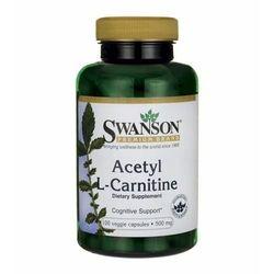 Acetyl L-Carnitine ALC 500mg acetyl karnityny 100 kapsułek SWANSON
