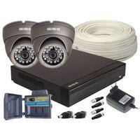 Zestawy monitoringowe, Zestaw 4w1, 2x Kamera HD/IR20, Rejestrator 4ch