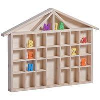 Zabawki z drewna, Drewniany domek na literki - kolekcjonerski