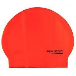 Czepek pływacki lateksowy Aqua Speed pomarańczowy