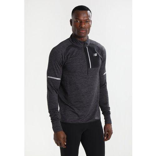 Pozostała odzież sportowa, New Balance HEAT HALF ZIP Bluza mottled dark grey