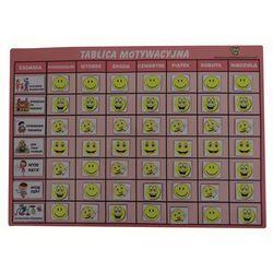 Magnetyczna tablica motywacyjna - różowa wesołe buźki