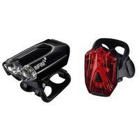 Oświetlenie rowerowe, Lampka rowerowa przednia i tylna infini lava czarny