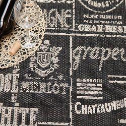 Dekoria Dywan Cottage Wine black/wool 60x180cm, 60 × 180 cm