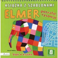 Książki dla dzieci, Elmer Książka z szablonami Potrafię rysować (opr. miękka)