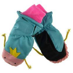 Dziecięce rękawiczki narciarskie Scorpio - Różowy   Miętowy