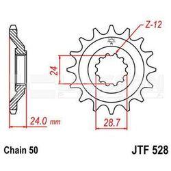 Zębatka przednia JT F528-17, 17Z, rozmiar 530 2200012 Kawasaki ZZR 1100