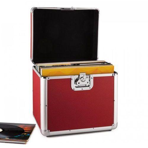 Akcesoria DJ, Resident DJ Zeitkapsel aluminiowy kufer na 70 LP czerwony