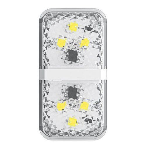 Drzwi samochodowe, Baseus zestaw 2x ostrzegawcza lampka LED do drzwi samochodu biały (CRFZD-02) - Biały