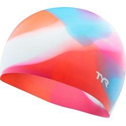 TYR Tie Dye Czepek silikonowy Dzieci, pink/blue 2019 Czepki pływackie Przy złożeniu zamówienia do godziny 16 ( od Pon. do Pt., wszystkie metody płatności z wyjątkiem przelewu bankowego), wysyłka odbędzie się tego samego dnia.