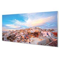 Panel Szklany Grecja Panorama miasto zachód słońca
