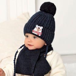 Komplet ajs 40-414 czapka+szalik rozmiar: 44-46cm, kolor: wielokolorowy, ajs