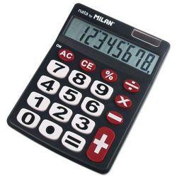 Kalkulator 8 pozycji duże klawisze czarny 151708BL